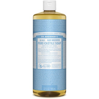3Save   Dr. Bronner's Organic Pure Castile Liquid Soap Baby Unscented - 946ml