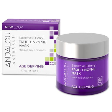 Andalou Naturals BioActive 8 Berry Fruit Enzyme Mask   For Dry & Sensitive Skin 50 mL