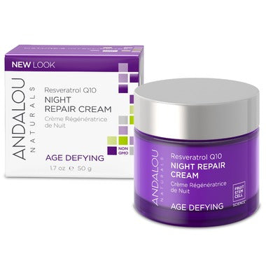 Andalou Naturals  Resveratrol Q10 Night Repair Cream - 50 ml