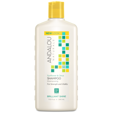 Andalou Naturals Sunflower & Citrus Brilliant Shine Shampoo, 340ml
