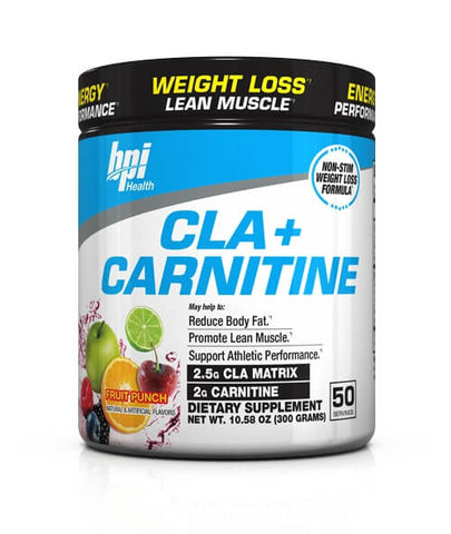 Weight Loss Cla + Carnitine Non-Stimulant Supplement Powder, Fruit Punch