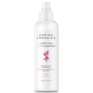 Carina Organics Fast Drying Hairspray Sweet Pea - 250ml