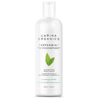 Carina Organics Shampoo & Body Wash Peppermint - 360ml