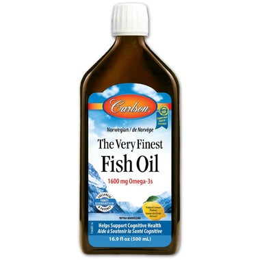 Carlson The Very Finest Fish Oil Lemon Large - 500ml