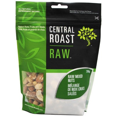 Central Roast Raw Mixed Nuts Unsalted 260g