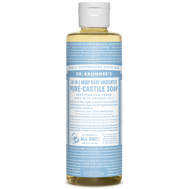 Dr. Bronner's Organic Pure Castile Liquid Soap Baby Unscented - 236ml