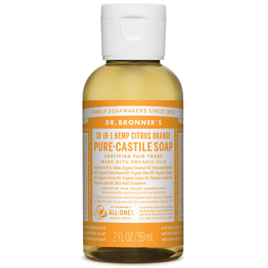 Dr. Bronner's Organic Pure Castile Liquid Soap Citrus Orange - 59ml