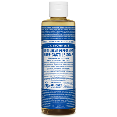 Dr. Bronner's Organic Pure Castile Liquid Soap Peppermint - 236ml