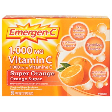 Emergen-C Super Energy Booster Instant Drink Mix - 30 servings