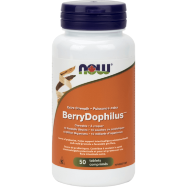 NOW Foods Extra Strength BerryDophilus Chewables 50 chewables