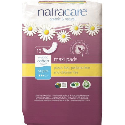 Natural Maxi Pad Super 12 Counts