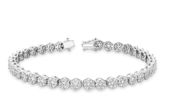 Diamond Bracelet in Flower Setting - 2kt