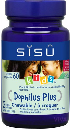 SISU Dophilus Plus Chewable Kids - 60 tablets