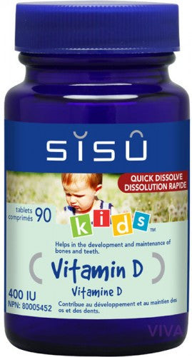 SISU Kids' Vitamin D 400 UI - 90 tablets