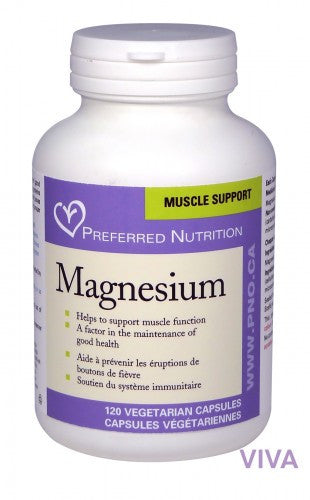 Preferred Nutrition Magnesium - 120 vcaps