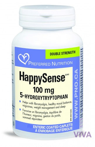 Preferred Nutrition HappySense 5HTP 100 mg - 60 caplets