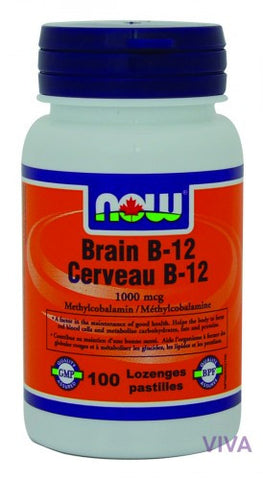 NOW Foods Brain B-12 1000 mcg - 100 lozenges