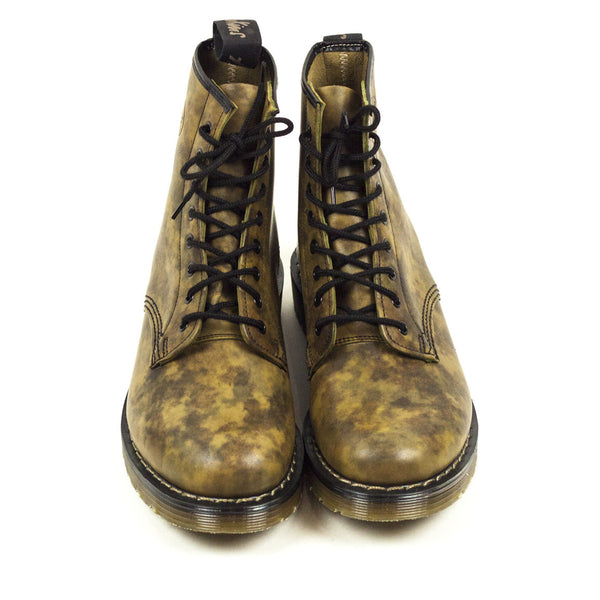 Vintage Deadstock GT Hawkins 8 Eye Boots - Camouflage Leather (Made In UK 6)