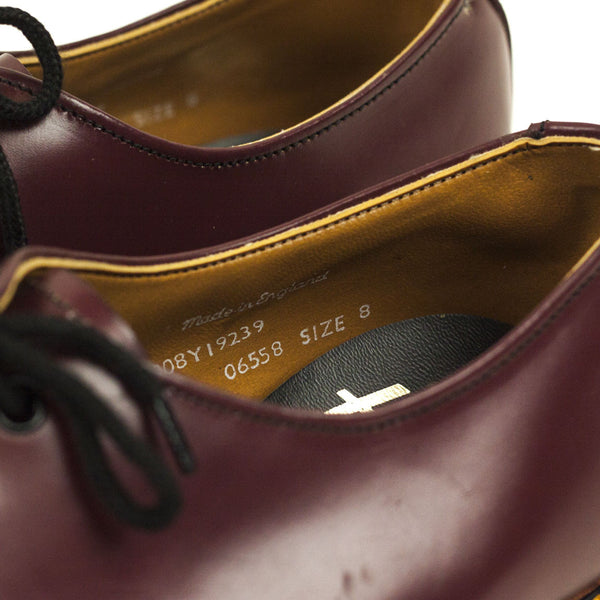 Vintage Deadstock GT Hawkins No1 3 Eye Shoes Y/S - Oxblood (Made In UK 8)