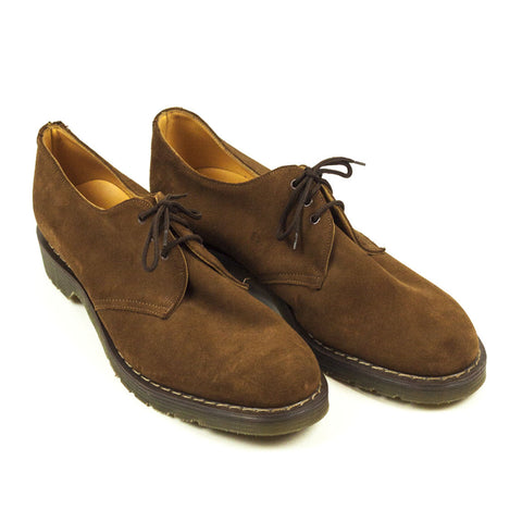 Vintage Deadstock GT Hawkins No1 3 Eye Shoes Suede - Brown (Made In UK 12)