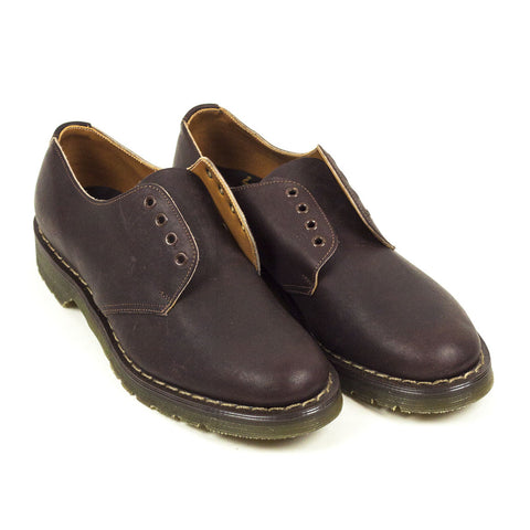Vintage Deadstock GT Hawkins No1 3 Eye Shoes - Brown Greasy (Made In UK 6) #2