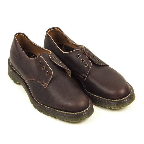 Vintage Deadstock GT Hawkins No1 3 Eye Shoes - Maroon Greasy Leather (Made In UK 4.5)