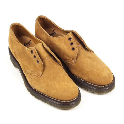 Vintage Deadstock GT Hawkins No1 3 Eye Shoes Suede - Tan (Made In UK 5)