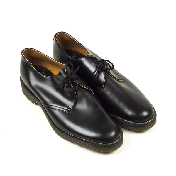 Vintage Deadstock GT Hawkins No1 3 Eye Shoes - Black Leather (Made In UK 12)