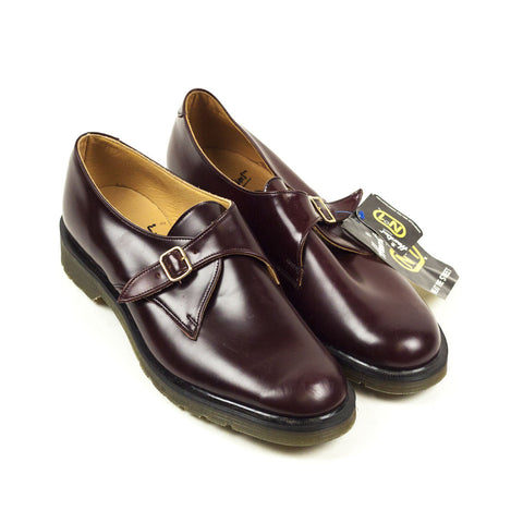 Vintage Deadstock GT Hawkins Monk Shoes - Burgundy (Made In UK 7,8, 8.5,11,12)