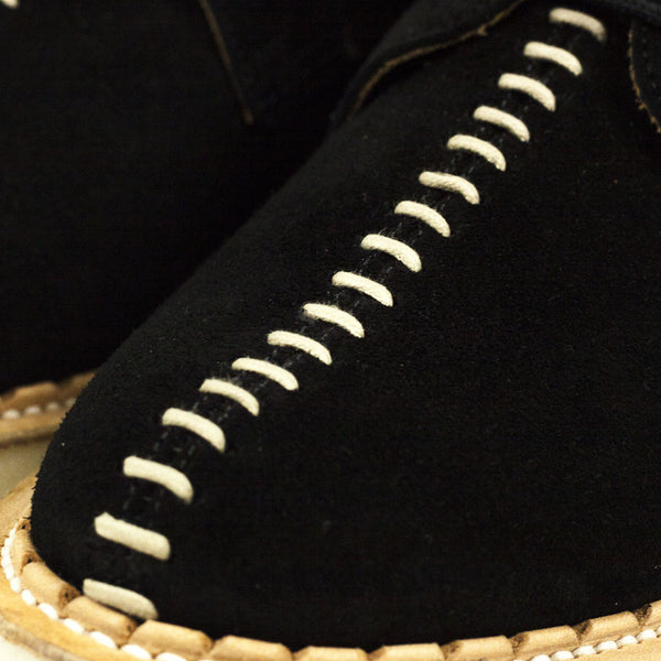 George Cox for Local Research - The Seamer Shoe - Black Suede
