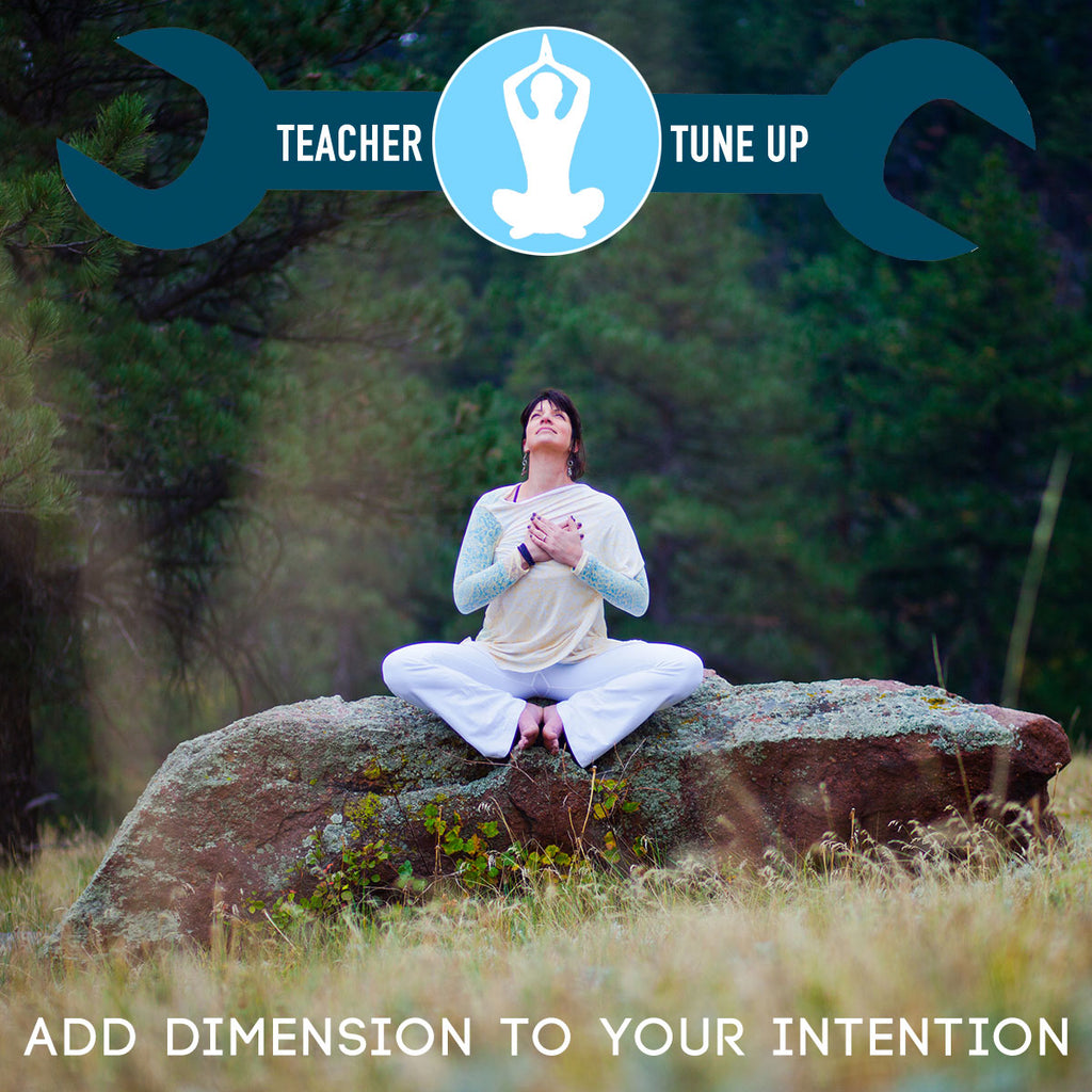 Teacher Tune Up: Add Dimension To Your Intention with Gina Caputo