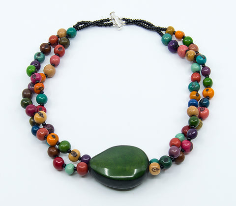 Acai Twist Double-Strand Necklace