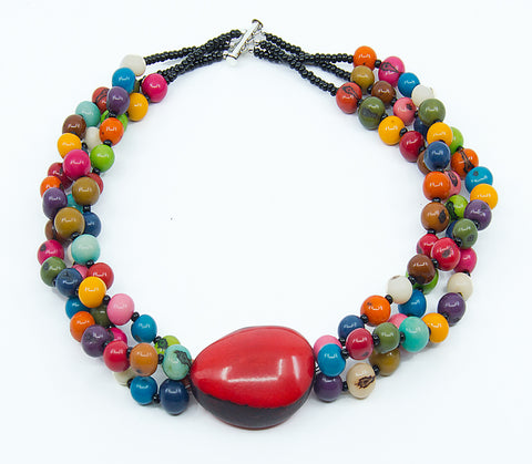 Acai Twist Triple-Strand Necklace