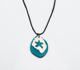 El Sol Tagua and Silver Necklace