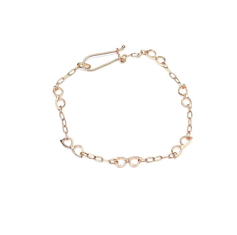 Rose Gold Glasses Bracelet