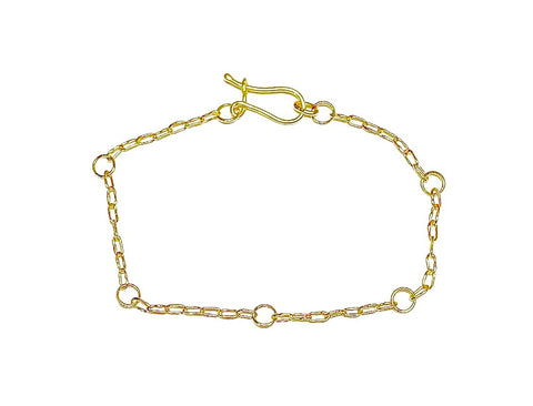 Handmade Chain Bracelet in 18k Gold