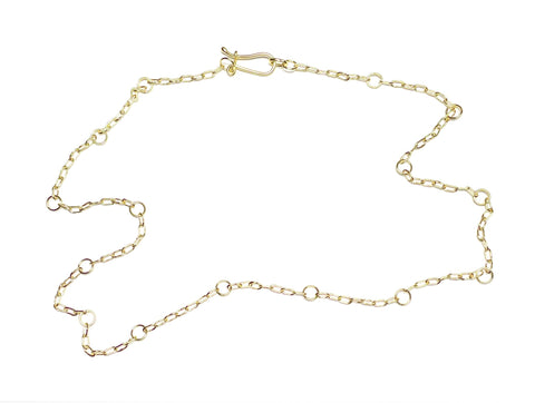 Handmade Chain Necklace in 18k Gold