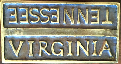 State Line Belt Buckle - Virginia Upright