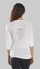Back of Eco-Friendly Yoga Shirt made in the USA - OM Matters®