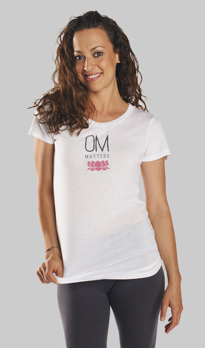 OM Matters Short Sleeve Yoga Shirt