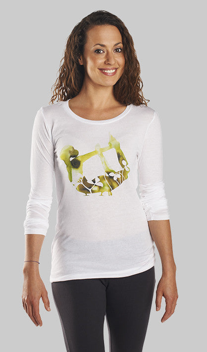 Eco-Friendly Asana Long Sleeve Yoga Shirt made in the USA - OM Matters®