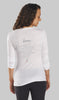 Back of Eco-Friendly Asana Long Sleeve Yoga Shirt made in the USA - OM Matters®