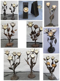 Floral Arrangements Made With Antique Crystal Doorknobs - Many Sizes
