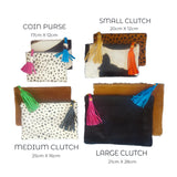 Cow Hide Clutch - Medium