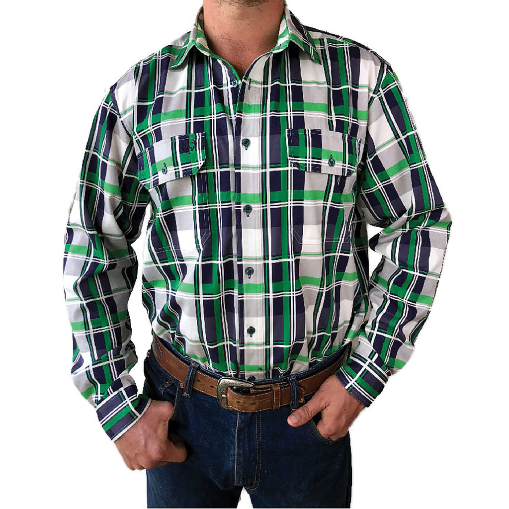 Flinders Full Button Work Shirt - Antola Trading