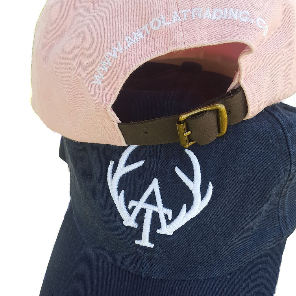 Washed Cotton Caps - Pink & Navy - Antola Trading