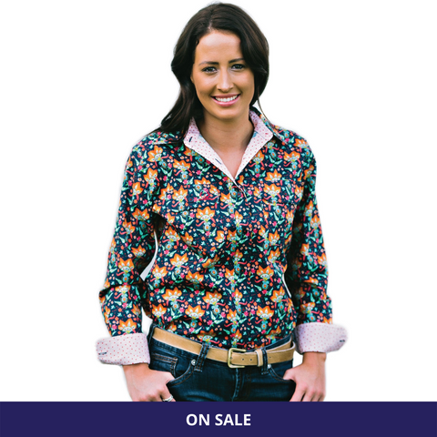 Grass Hut Full Button Work Shirt