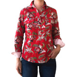 Hannah Half Button Work Shirt - Antola Trading