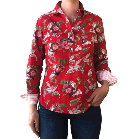 Hannah Half Button Work Shirt