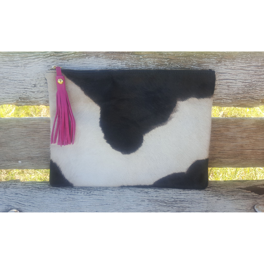 Cow Hide Clutch - Large - Antola Trading
